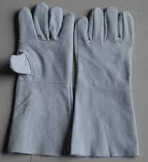 găng tay da hàn dài  2 lớp